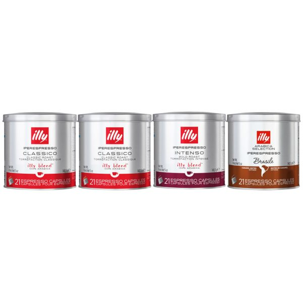 Illy Proefpakket 63 Cups Classico + Intenso + Brazil