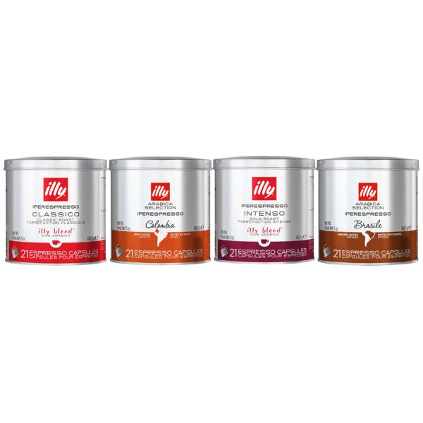 Illy Iperespresso Proefpakket Classico + Intenso + Brazil + Colombia 84 cups