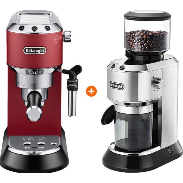 De'Longhi EC685.R Dedica Rood + koffiemolen