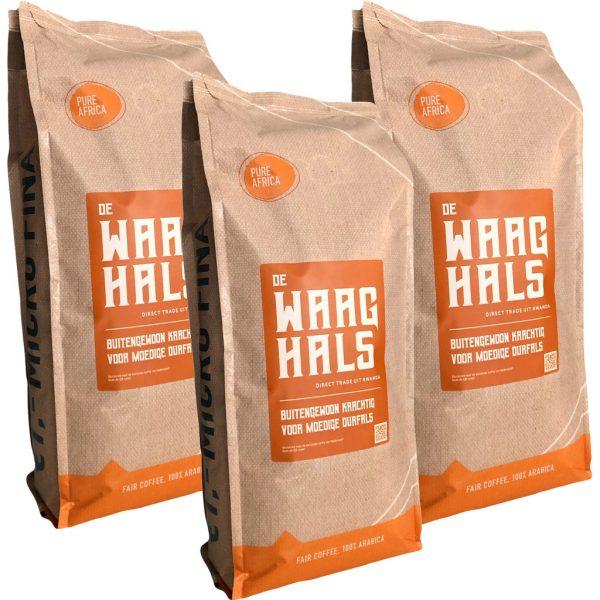 Pure Africa De Waaghals koffiebonen 3 kg