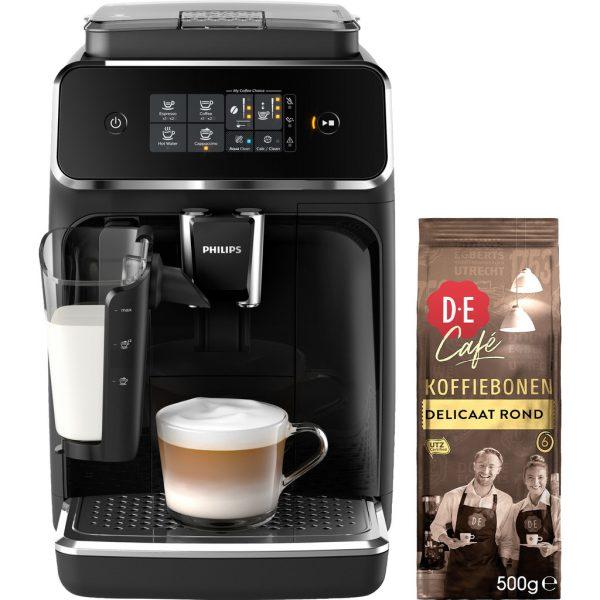 Philips 2200 EP2231/40 + Douwe Egberts Café Delicaat Rond Bonen 500 gram