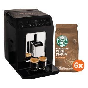 Krups Evidence EA8908 Zwart + Starbucks Koffiebonen